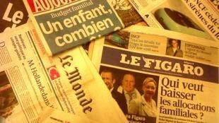 Capas dos diários franceses do dia 19 de Fevereiro de 2013