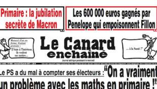 La Une du Canard du 27 janvier sur l'«affaire Fillon»