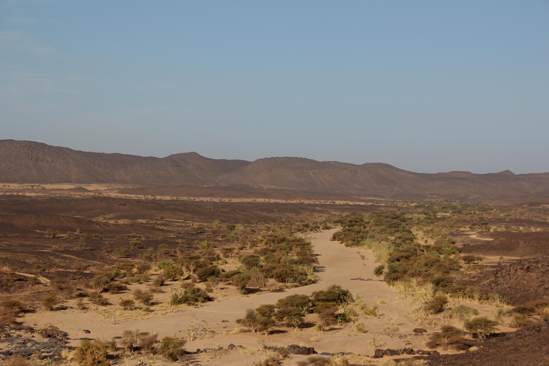 Un oued dans le massif du Tigharghar, au Mali.