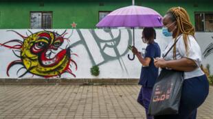 Johannesburg - Soweto - Covid-19 - fresque