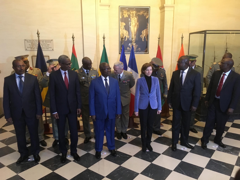 Mawaziri wa mambo ya nje kutoka ukanda wa Sahel wakikutana Mjini Paris nchini Ufaransa Januari 16, 2018