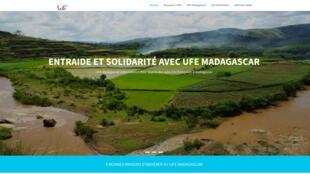 Capture d'écran du site internet de l'UFE Madagascar.
