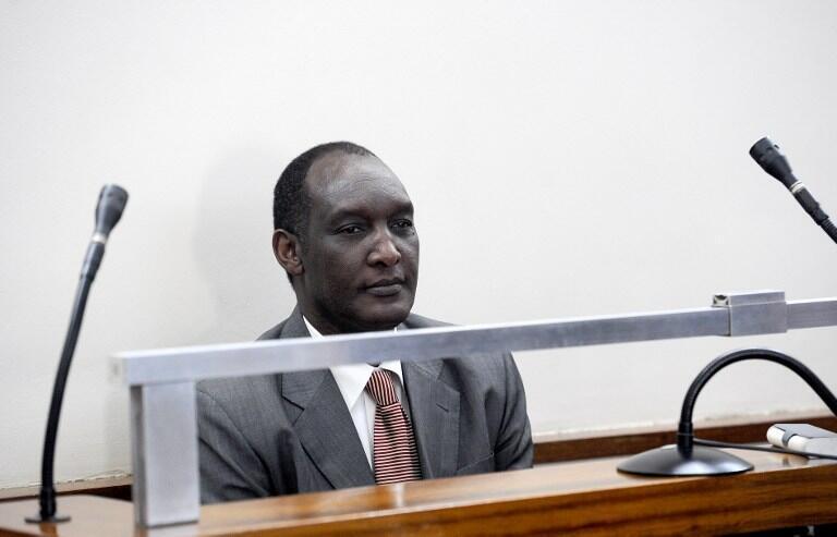 Le général en exil Faustin Kayumba Nyamwasa lors d'une audience au tribunal de Johannesburg, le 10 juillet 2012