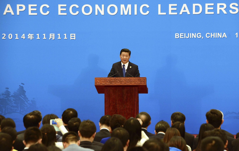 Chủ tịch TQ họp báo tại thượng đỉnh APEC. Ảnh ngày 11/11/2014