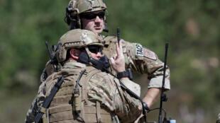 Des soldats américains de l'Otan lors de l'exercice multinational Saber Strike en 2016.
