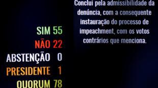 Por 55 a 22 votos, Senado abre processo de impeachment e afasta Dilma