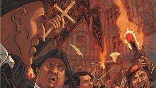 Couverture de la Bande Dessinée «Les guerriers de Dieu», Tome 1 de Pierre Wachs et Philippe Richelle.