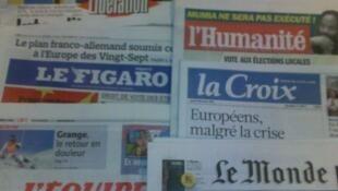 Diários franceses 08/12/2011