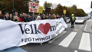 En octobre dernier des milliers de Danois protestaient contre le durcissement de la politique migratoire du gouvernement.