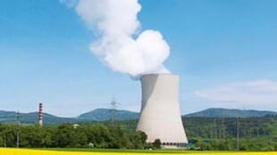 Vue d'une centrale nucléaire Suisse.