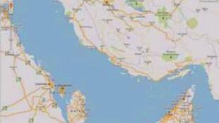تصویری از نقشه گوگل که نامی از خلیج فارس بر آن دیده نمیشود