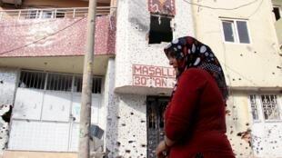 2015年9月12日發生過槍戰的土耳其舍爾納克省一座城市