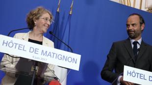 Министр труда Мюриэль Пенико и премьер-министр Эдуар Филипп, 6 июня 2017 года.