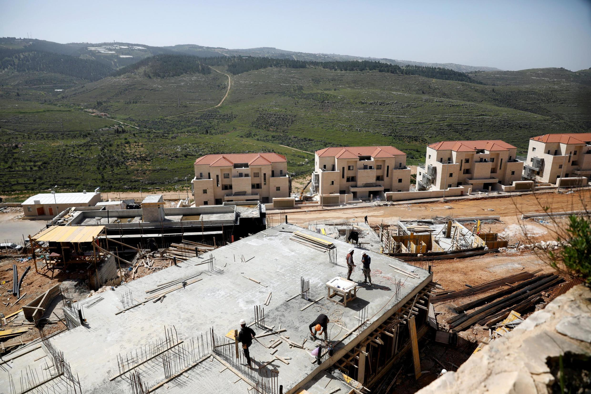 Construction of settlements in Beitar Illit on the West Bank, 7 April 2019.