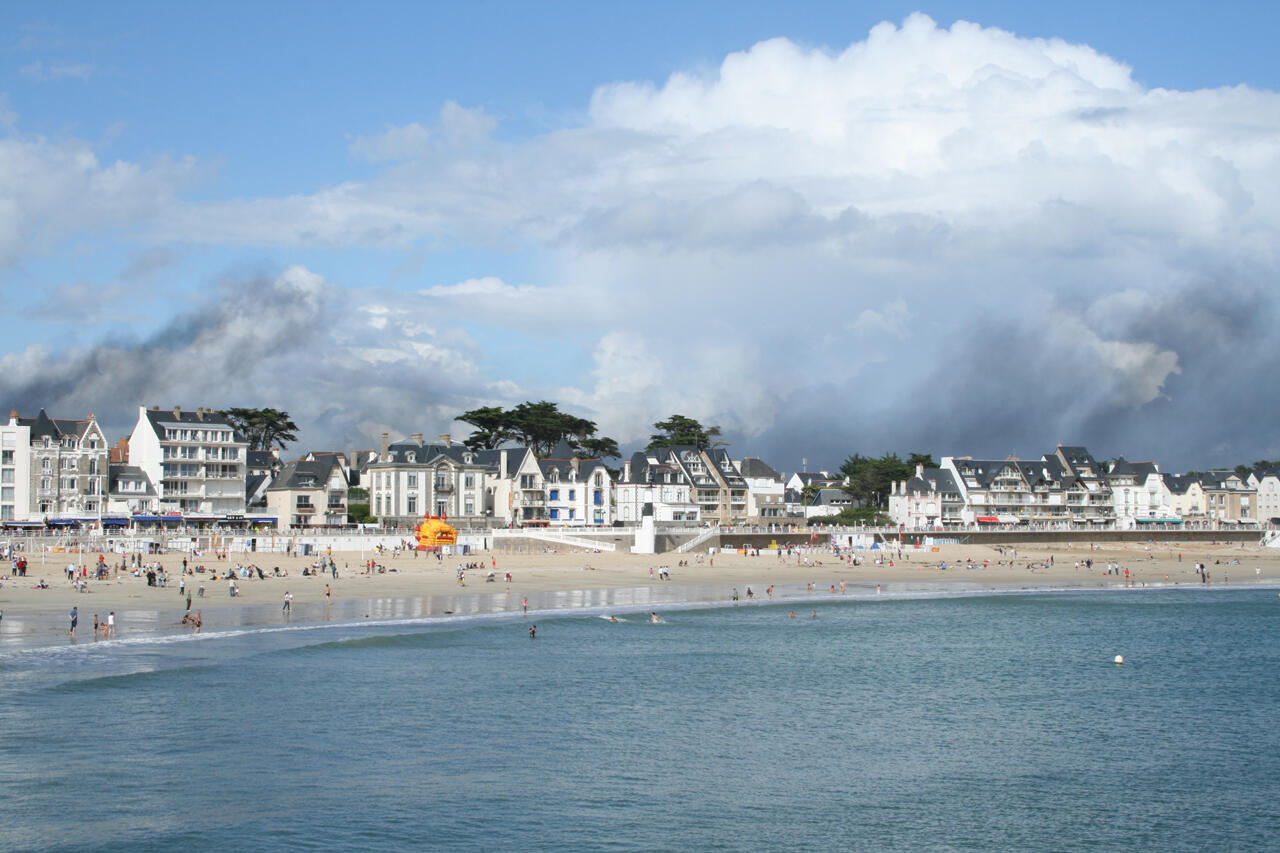A general view of Quiberon, in western France, site of a major cluster of Covid-19 infections.