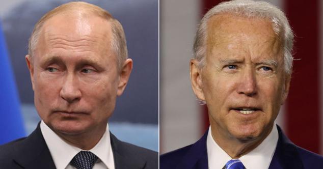 俄罗斯总统普京与美国总统拜登资料图片