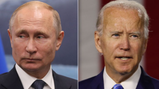 俄羅斯總統普京與美國總統拜登資料圖片
