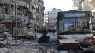 Devastation in Al-Shaar area in Aleppo
