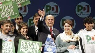 Pier Luigi Bersani, do Partido Democrata, é apontado como favorito nas legislativas da Itália