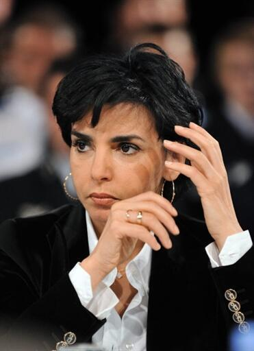 Rachida Dati, former French justice minister, now helping the police with their enquiries.