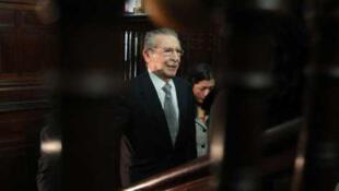 José Efraín Ríos Montt, l'ancien dictateur du Guatemala.