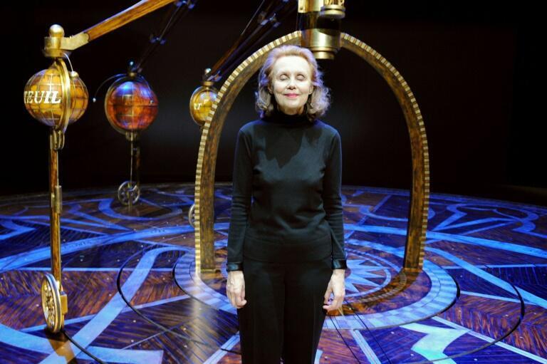 La compositrice Kaija Saariaho, lors d'une répétition de son opéra «Emilie» dans la ville française de Lyon, le 26 février 2010.