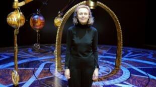 La compositora Kaija Saariaho, en un ensayo de su ópera 'Emilie' en la ciudad francesa de Lyon el 26 de febrero de 2010