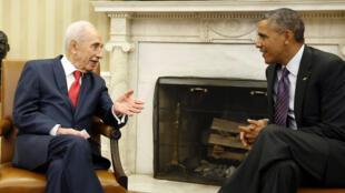 Shimon Peres et Barack Obama à la Maison Blanche, le 25 juin 2014.