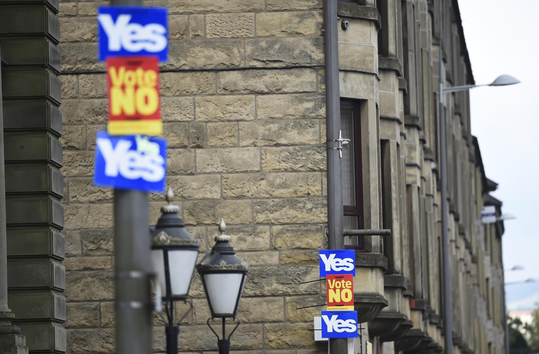 Trên đường phố Scotland, ngày 16/09/2014, hai ngày trước trưng cầu dân ý.