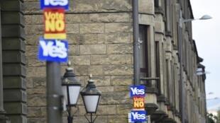 Dans les rues de Clydebank, en Ecosse, le 16 septembre 2014, deux jours avant le référendum sur l'indépendance.