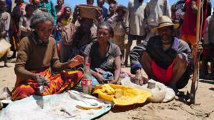 Sur le marché d'Erada, les étals sont presque vides. Comme Cristalline, beaucoup ont commencé à vendre leurs biens personnels pour ensuite pouvoir acheter de quoi manger.