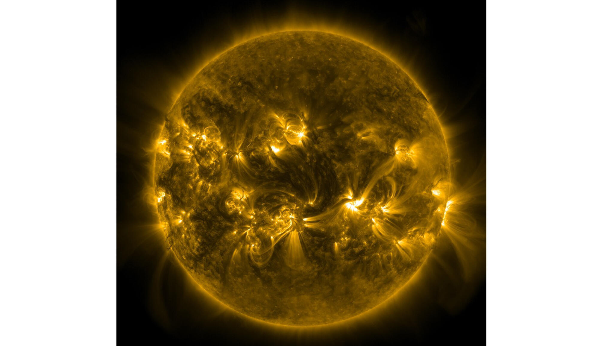 Image du Soleil venant du satellite SDO.