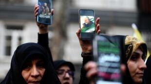 Vendredi, des manifestants se sont rassemblés devant le bureau des Nations unies à Téhéran pour dénoncer l'assassinat du général Qassem Soleimani.