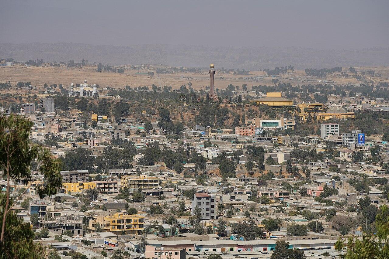 Vue de la capital tigréenne Mékélé en Éthiopie, le 25 janvier 2018.