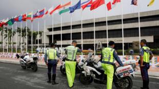 Trung tâm hội nghị quốc tế  tại Manila, Philippines chuẩn bị đón các cuộc họp ASEAN. Ảnh ngày 02/08/2017.