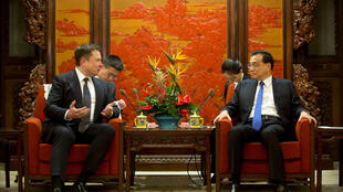伊龍-馬斯克Elon Musk與中國總理李克強2019年1月9日北京中南海