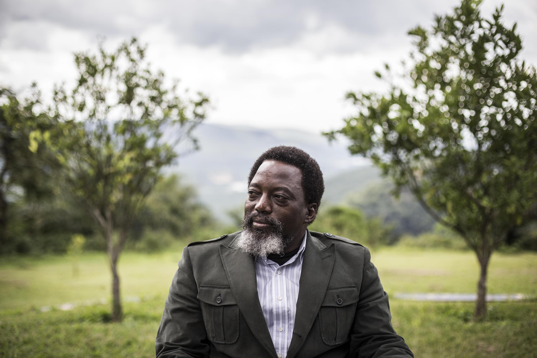 Joseph Kabila katika bustani ya shamba lake la Kingakati, Kinshasa, Desemba 10, 2018.