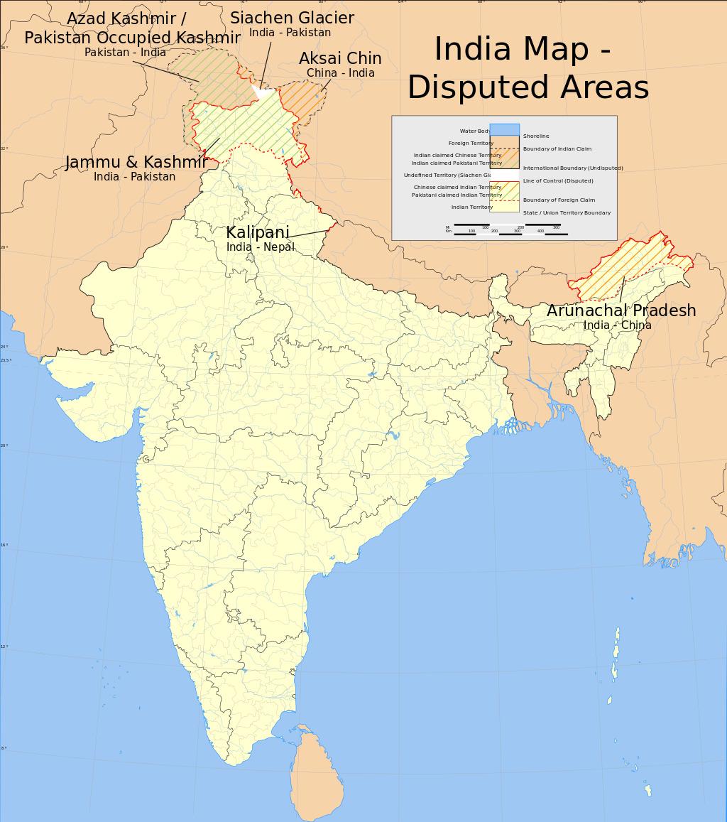 中印边界 Sino-Indian border dispute