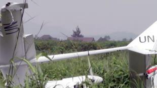 Le drone de la Monusco qui s'est écrasé ce mercredi 15 janvier sur l'aéroport de Goma, en RDC, après une «sortie de piste», selon l'ONU.