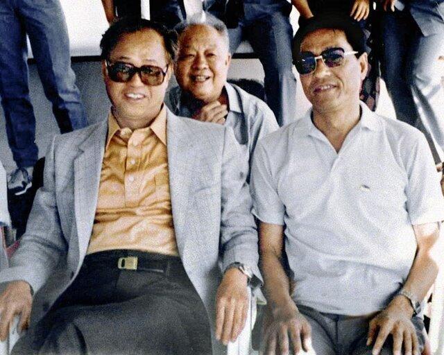 鮑彤(右)與趙紫陽(左)1986年合影