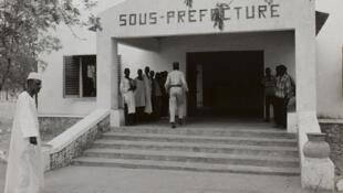 Entrée de la sous-préfecture de Kaélé, au Cameroun.