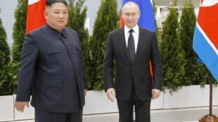 Kim y Putin en Vladivostok, 25 de abril de 2019.