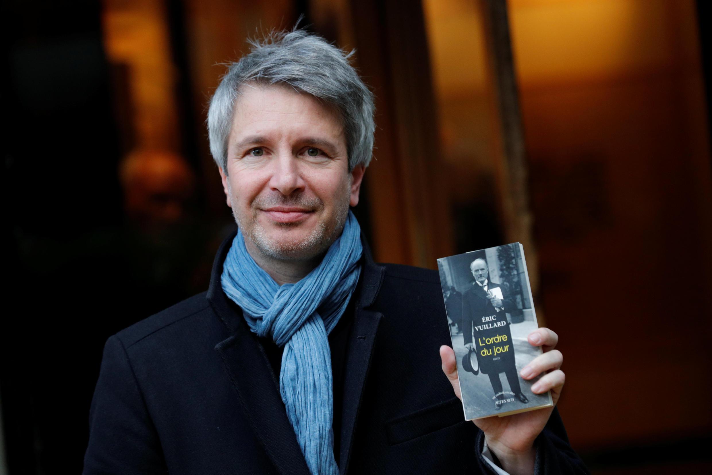 Nhà văn Pháp Eric Vuillard giới thiệu tác phẩm sau khi đoạt giải Goncourt, ngày 06/11/2017.