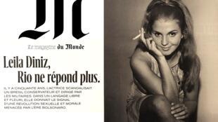"""Leila Diniz """"dava o sinal de uma revolução sexual e moral ameaçada pela era Bolsonaro"""", diz Le Monde"""