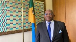 Georges Chikoti, secretário-geral dos países ACP em Bruxelas, Bélgica, a 3 de Março de 2020.
