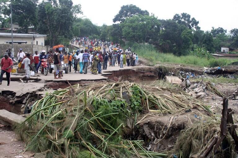 Précédentes inondations à Brazzaville, au Congo. (Image d'illustration)
