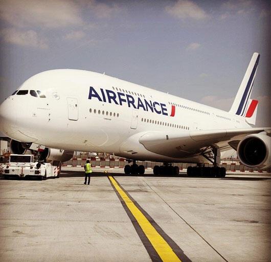 Grounded? An Air France plane