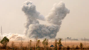 联军对伊拉克摩苏尔北部的轰炸 2016年10月26日