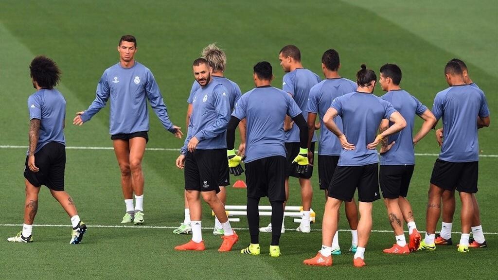 Kikosi cha Real Madrid kikijiandaa dhidi ya  Sporting Lisbon
