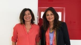 Sedef Ecer et Fawzia Zouari à Orléans (septembre 2018).